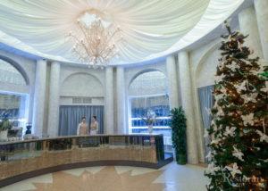 Холл ресторан Московское небо (драпировка потолка)