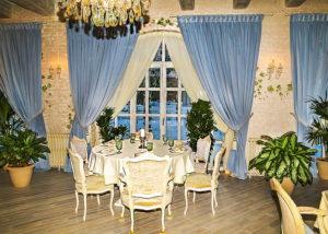 Шторы на окна (ресторан Московское небо)
