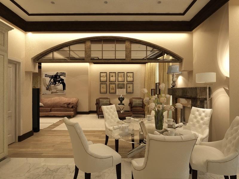 Дизайн-проект интерьера - Коридор в гостиную
