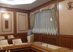 Пошив штор для кабинета.