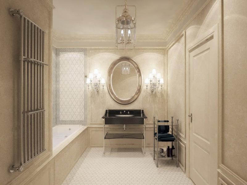 Дизайн-проект интерьера - Основной туалет