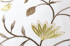 Melbourne - представляет собой сборник компаньонов трех разных фактур: сатина с репсовой основой из каталога KINGSTON, шенила из коллекции MARTINO и вышивок.
