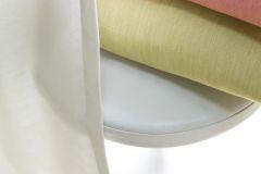 Rosell - входит 3 типа однотонных тканей в 2-х разных фактурах: однотонники и вуали. Все ткани коллекции выполнены с эффектом «под лен».
