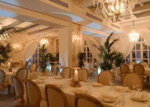 Мебель, шторы, столовый текстиль (ресторан Московское небо)