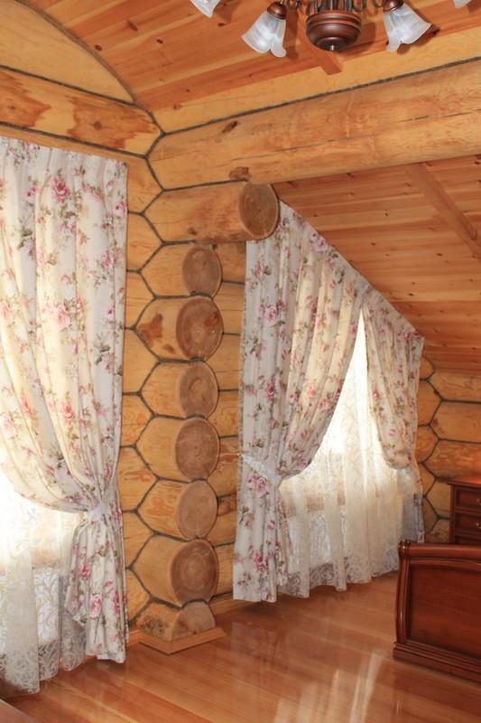 Портьеры и тюль в Загородном доме (деревня Кезьмино)_800