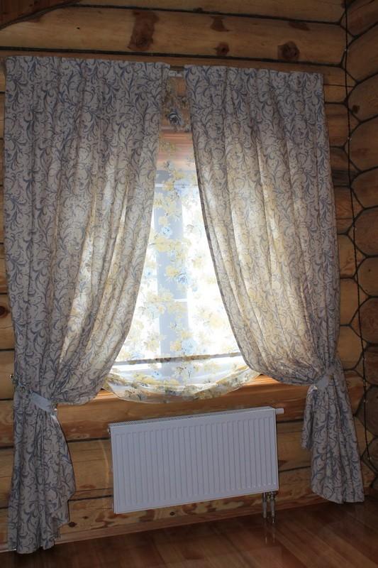 Загородный дом, натуральные ткани с принтовым рисунком_800