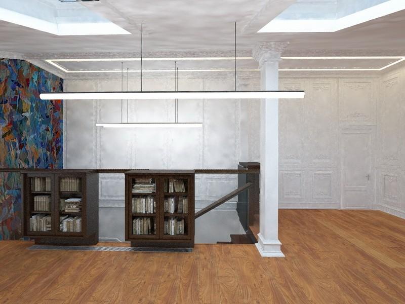 Дизайн-проект интерьера - Библиотека