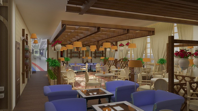 Дизайн проект, ресторан Анино