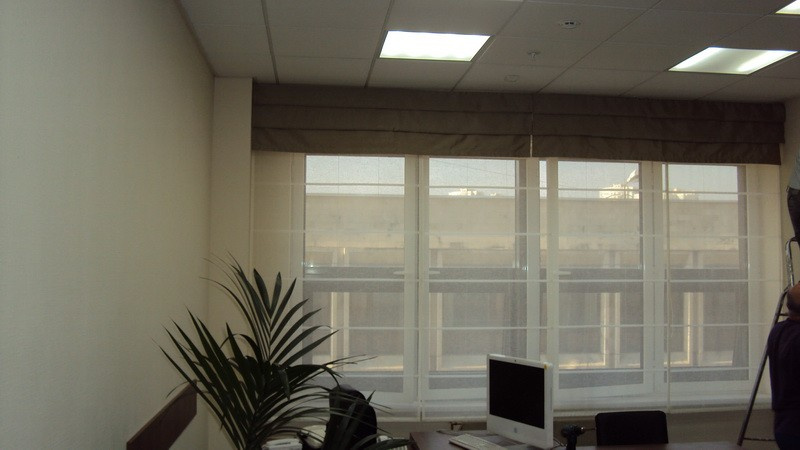 Римские шторы из прозрачного льна_800