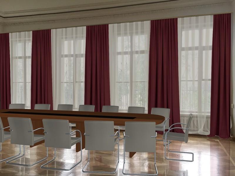 Варианты оформления переговорных (шторы, мебель) (1)