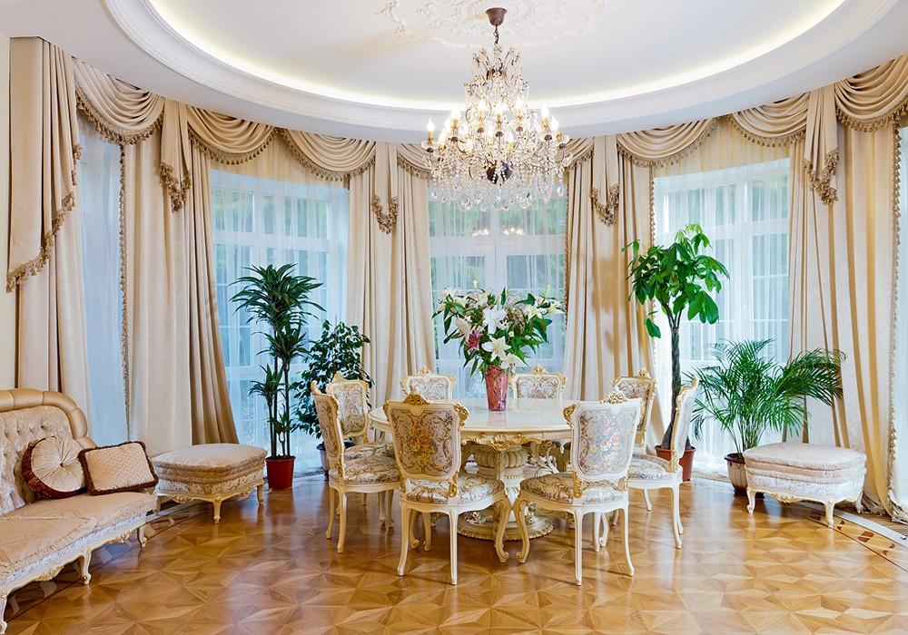 название частная усадьба классические элитные шторы фото выглядит элегантно