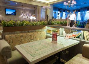 Шторы для ресторана, обивка диванов