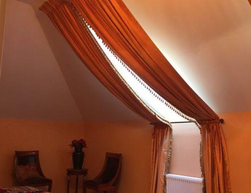 Пошив шторы на нестандартные окна.