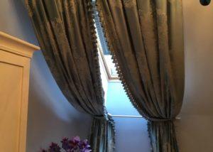 Наклонные шторы.