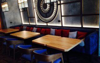 Шторы и мебель для ресторана