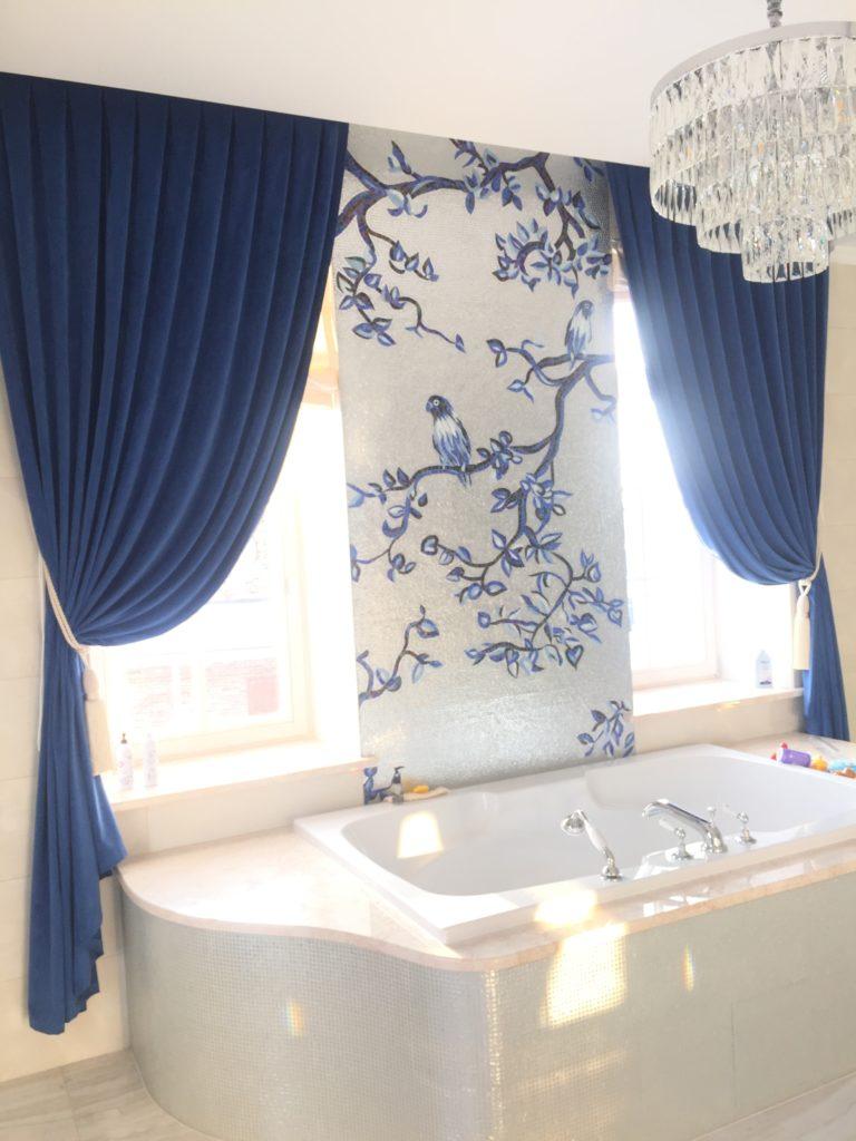 Пошив штор на заказ для ванной комнаты