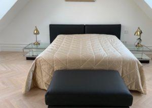 Изготовление кровати и пошив покрывало