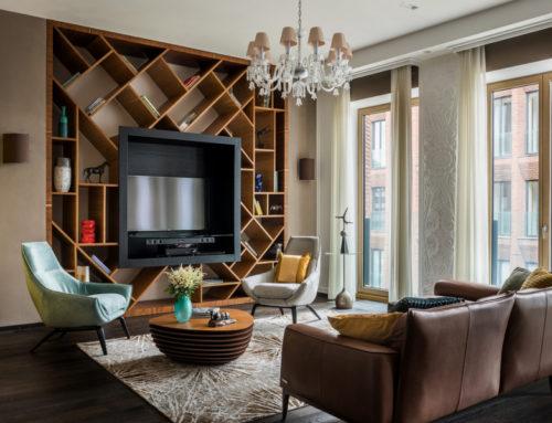 Квартира 175 м² с современным искусством в Москве