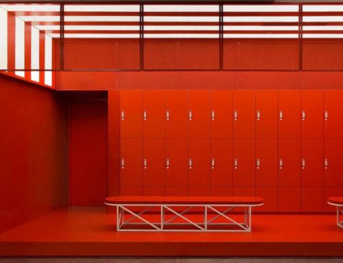 Разноцветный спортивный клуб в Китае