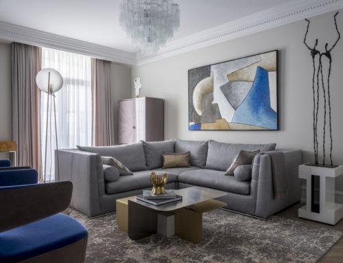 Современный ар-деко: квартира 102 м² в Москве
