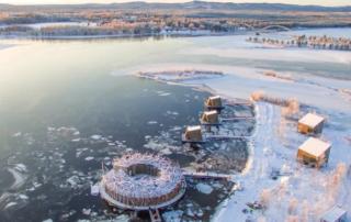 Arctic Bath: плавучий отель в Швеции