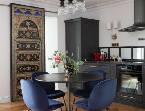 Квартира 64 м² с витражами и марокканскими мотивами в Санкт-Петербурге