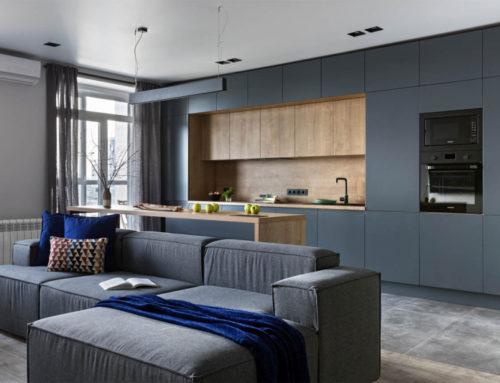 Двухкомнатная квартира в серых тонах